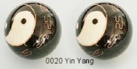 Therapy ball 40mm - Yin Yang #0020 Black - 2 ball set