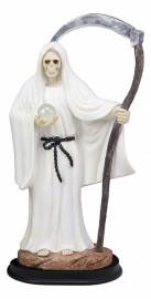 "Holy Death-Santisima Muerte Statue 12.75"" Tall Resin Finish/White"