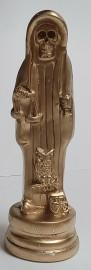"Holy Death/Santisima Muerte Statue 5.5""H  Resin Finish/Gold"