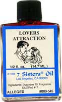 LOVERS-ATTRACTION 7 Sisters Oil