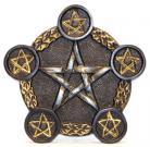 Pentagram 5 Tealight Candle Holder