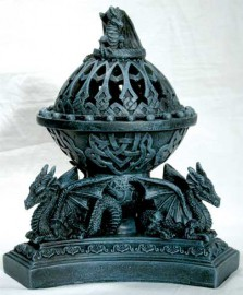 Triple Dragon Incense Holder