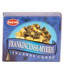 Frankincense & Myrrh HEM cone 10 pack