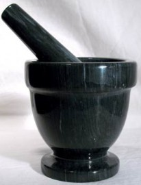 Black Marble Mortar and Pestle Set