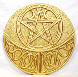 Celtic Moon and Pentacle Altar Tile