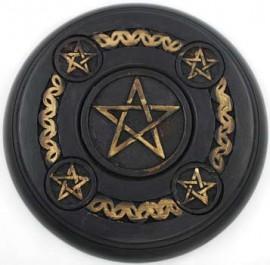 5 Pentagram Altar Tile wood