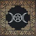 Triple Goddess With Pentagram Altar/Tarot Cloth