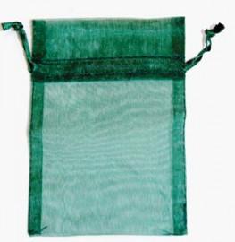 Small Green Organza Pouch