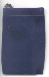 Blue Velveteen Bag  (2