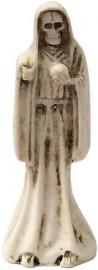 "Holy Death-Santisima Muerte Statue 3"" Tall Resin Finish/White"