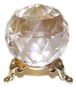 50mm faceted crystal ball